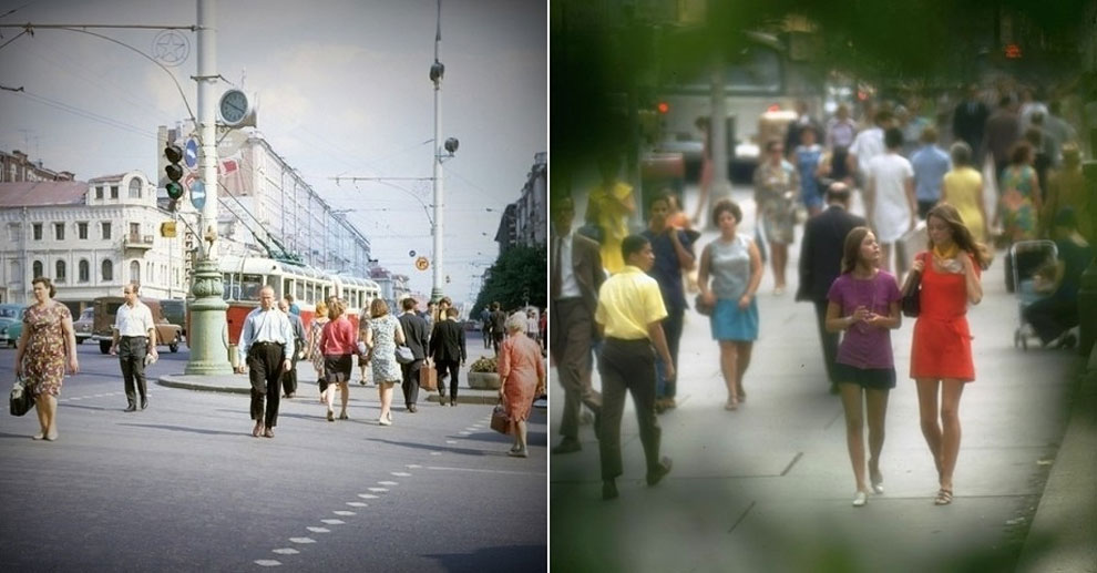 Москва против Нью-Йорка: визуальное сравнение двух больших городов 48 лет назад