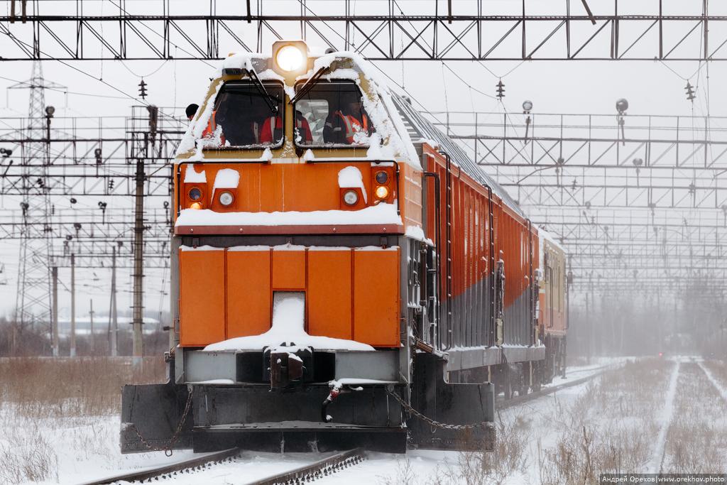Как борются со снегом на железных дорогах