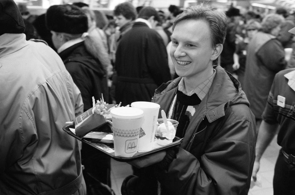 Посетитель McDonald's.