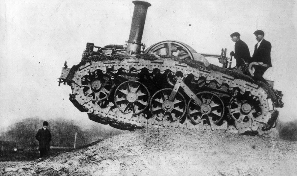 Прототип танка построенный фирмой Ruston & Hornsby в 1902 году.