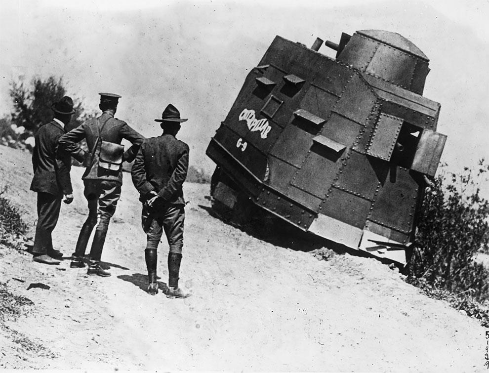 Американский танк, 1917.