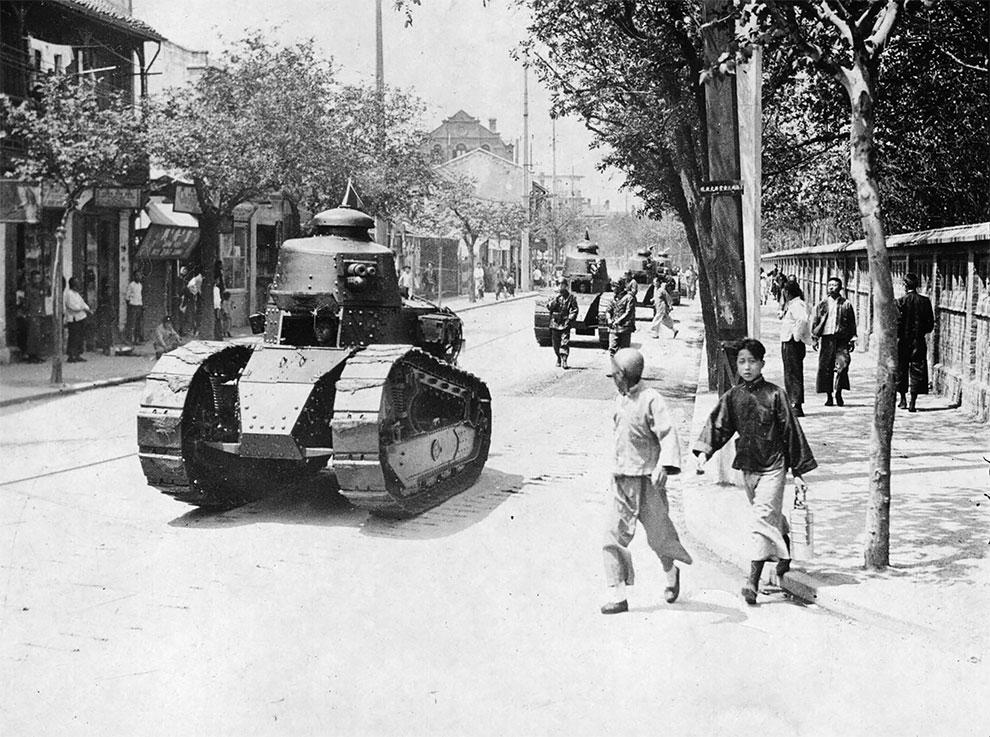 Рено FT-17 - легкий танк патрульной службы, в район французской концессии в Китае, 1927.