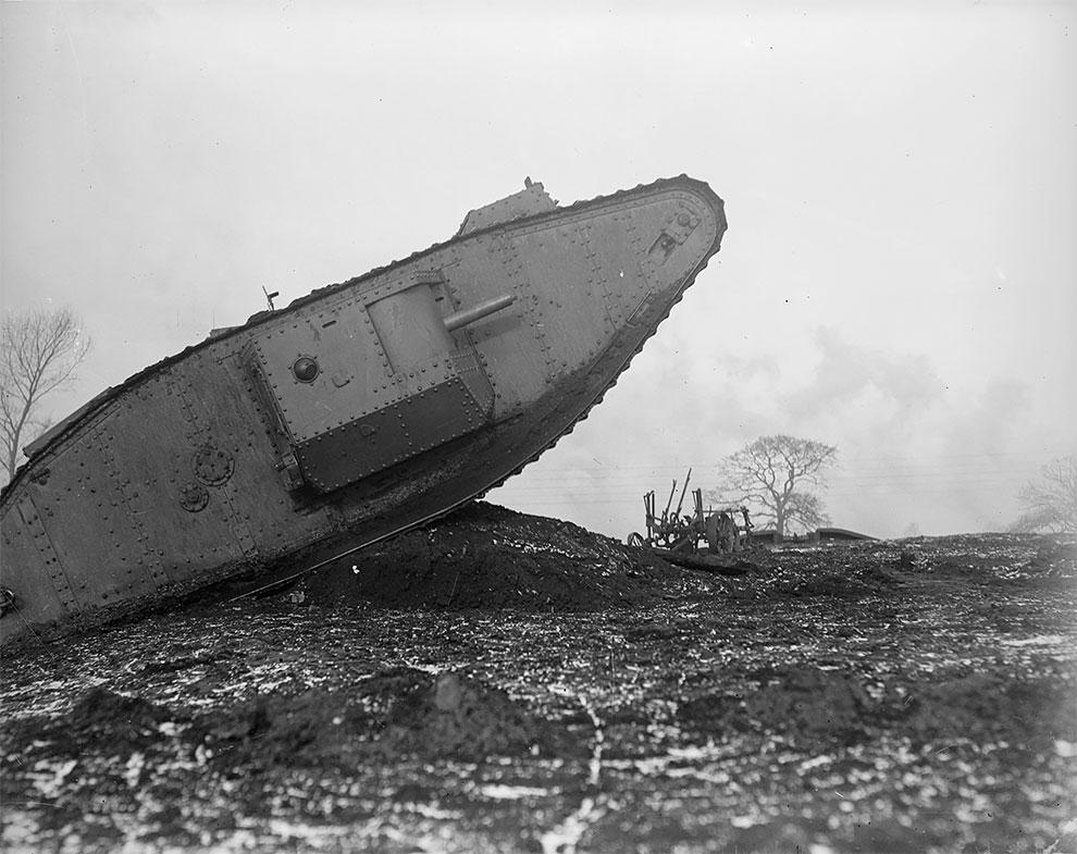 Британские танковые испытания в Линкольншире, 1918 г.