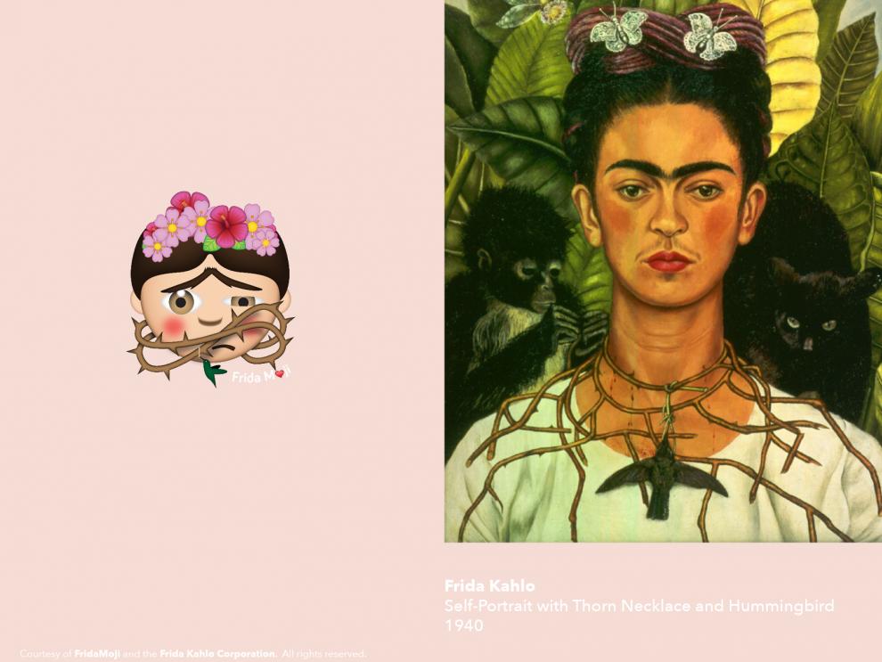 Картины Фриды Кало превратили в набор эмодзи