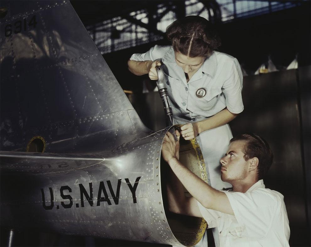 Монтаж и ремонт на авиационной базе военно морскогофлота, Корпус-Кристи, штат Техас, 1942 г.