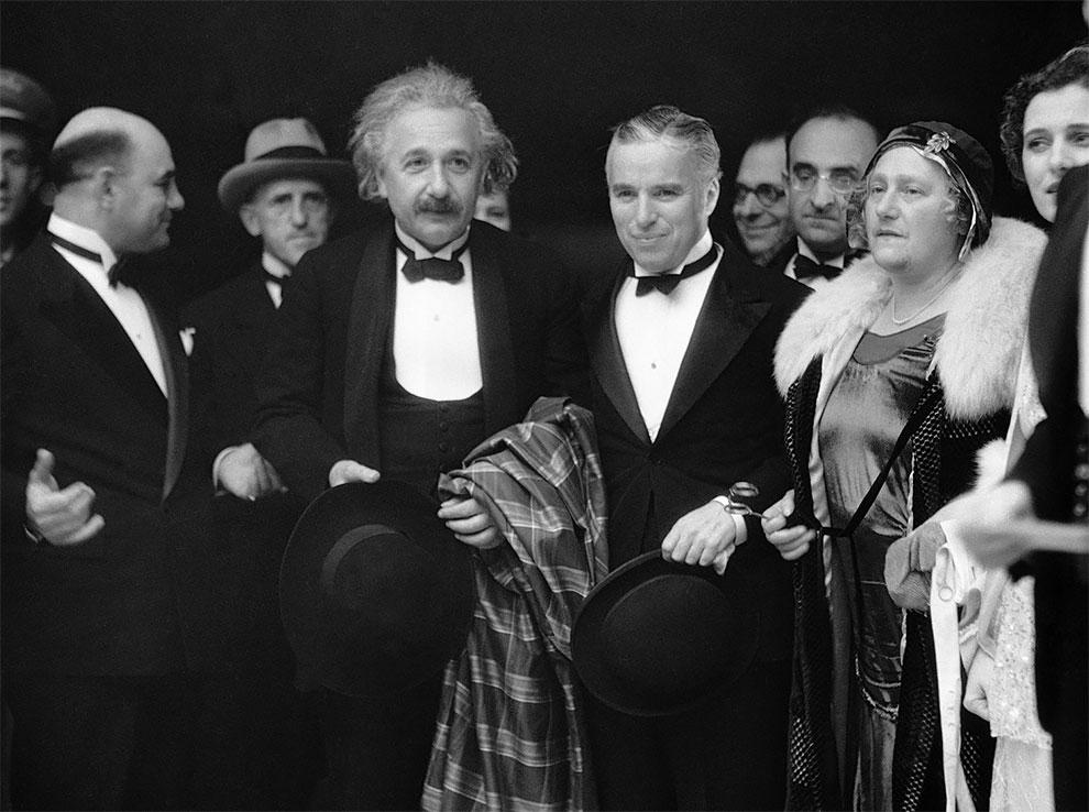 Альберт Эйнштейн и Чарли Чаплин, 1931.