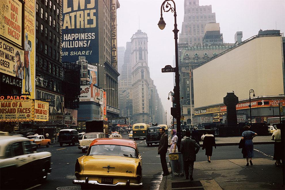 Таймс-Сквер, 1957 год.