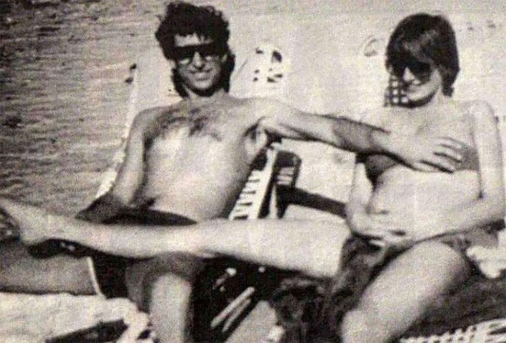 Принц Чарльз и принцесса Диана в отпуске на Багамских островах, 1982.