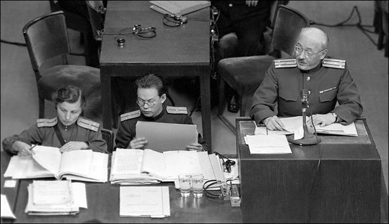 Выступление заместителя главного обвинителя от СССР полковника Покровского на Нюрнбергском процессе.
