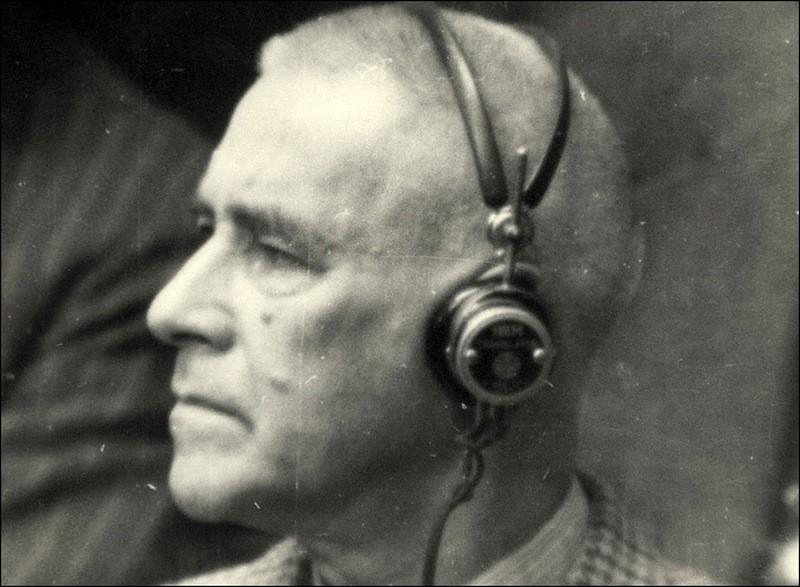 Протектор Богемии и Моравии Вильгельм Фрик на процессе.