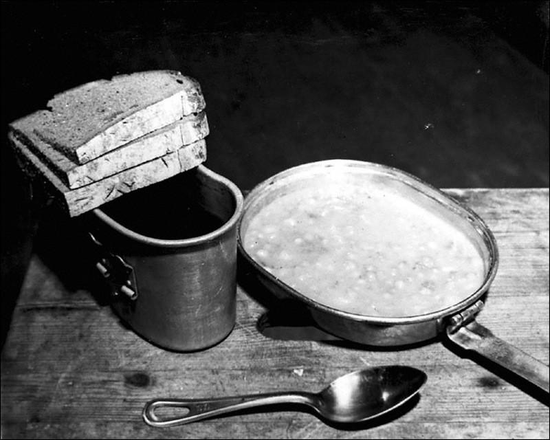 Обеденный рацион подсудимых Нюрнбергского процесса.