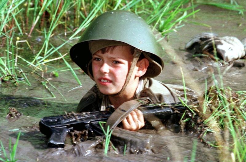 Детский военный лагерь, июль 1997 года.