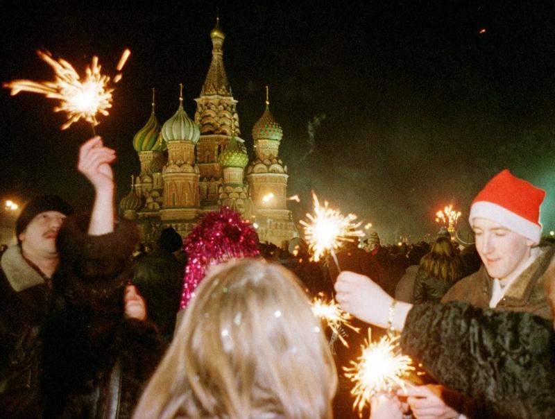 Новый год на Красной площади, ночь 1 января 1999 года.