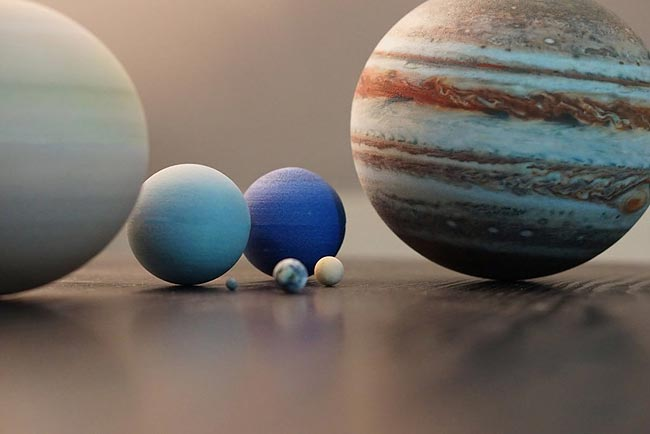 Миниатюрные планеты солнечной системы с помощью 3D-принтера