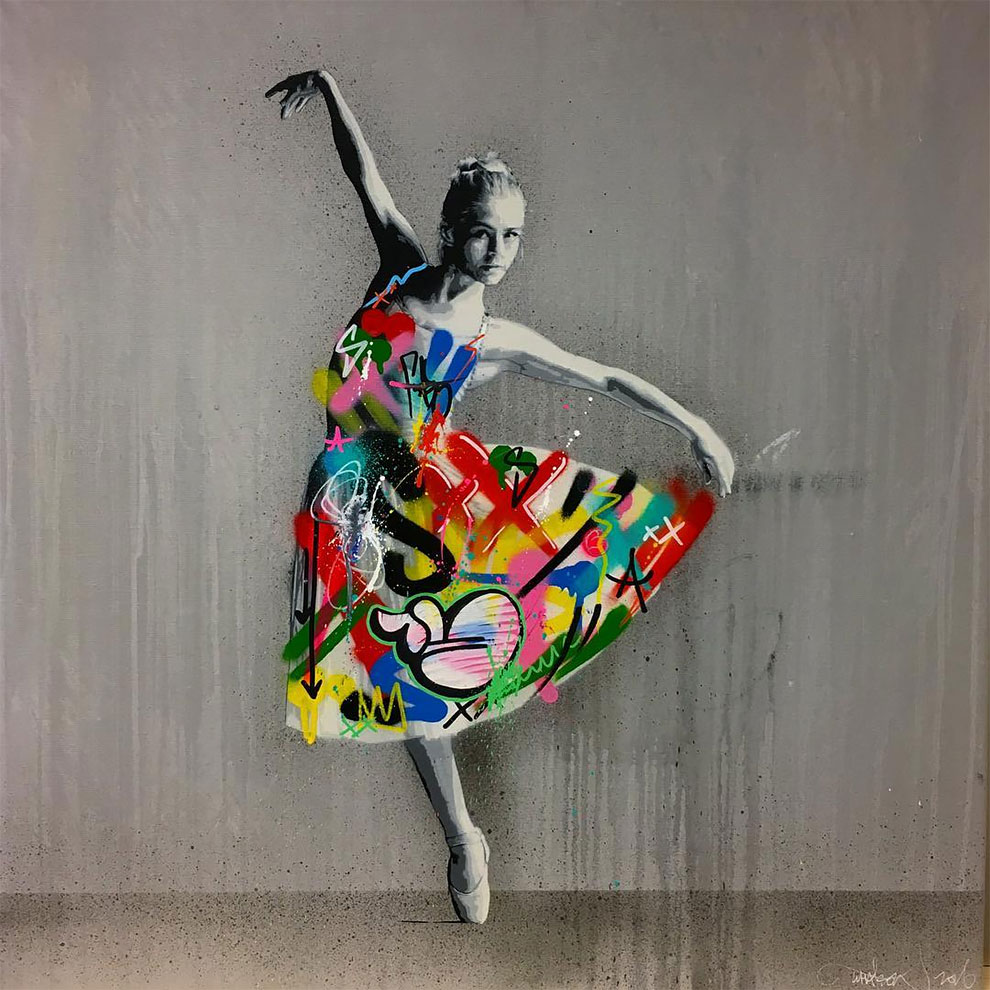 Оригинальные граффити от художника Мартина Уотсона