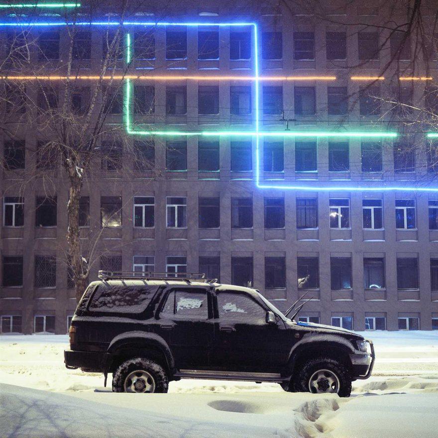 Ночной город в Сибири от Влада Третьяка