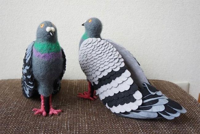 Женщина из Японии сделала себе туфли в виде голубей