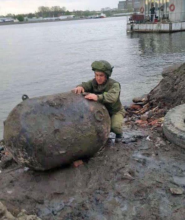 В Санкт-Петербурге была найдена мина времен Великой Отечественной войны