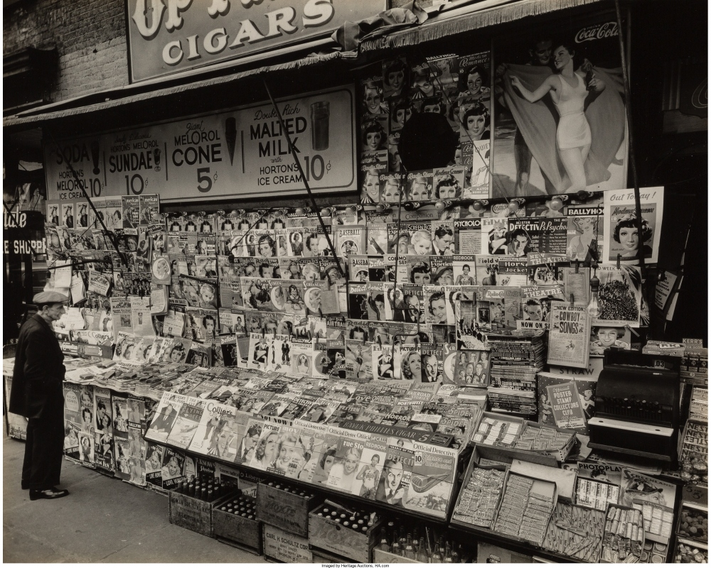 Газетный киоск, угол 32 улицы и 3 авеню. 19 ноября 1936г.