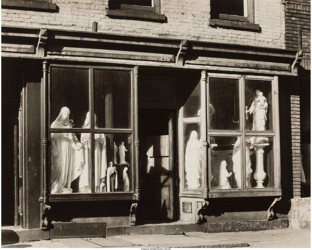 Магазин скульптур, Уотер-стрит, 1930г.