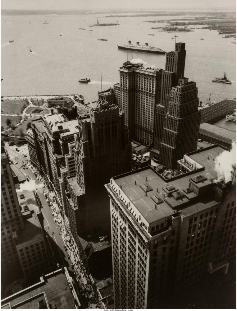 Бродвей в сторону Бэттери-парк. 4 мая 1938 года.