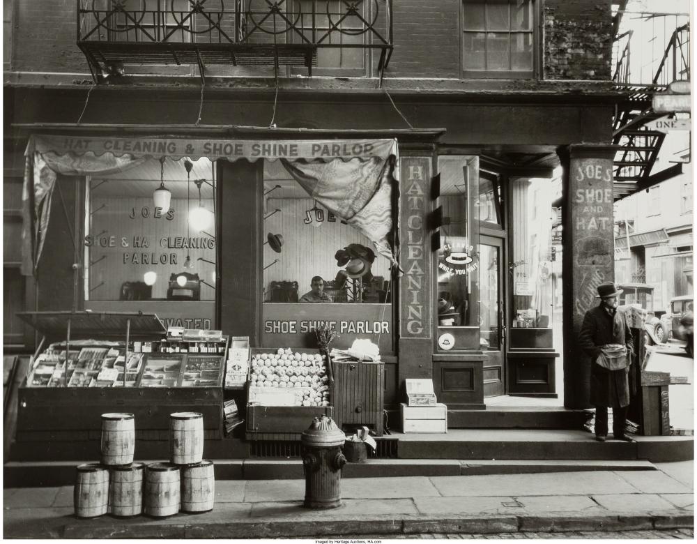 Чистка обуви, Перл-стрит, 1938.