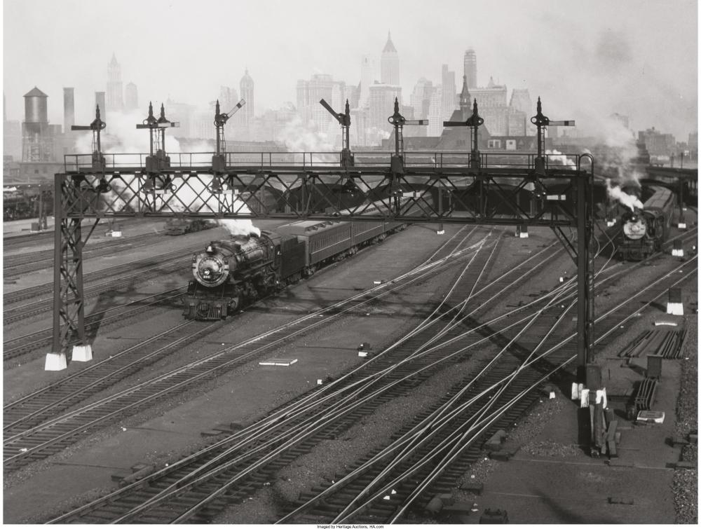 Железнодорожные пути на Манхэттене, 1935.