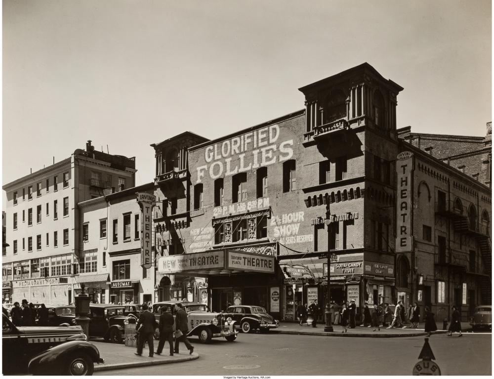 Театр Ирвинг Плейс, 15-я стрит, 8 сентября 1938.