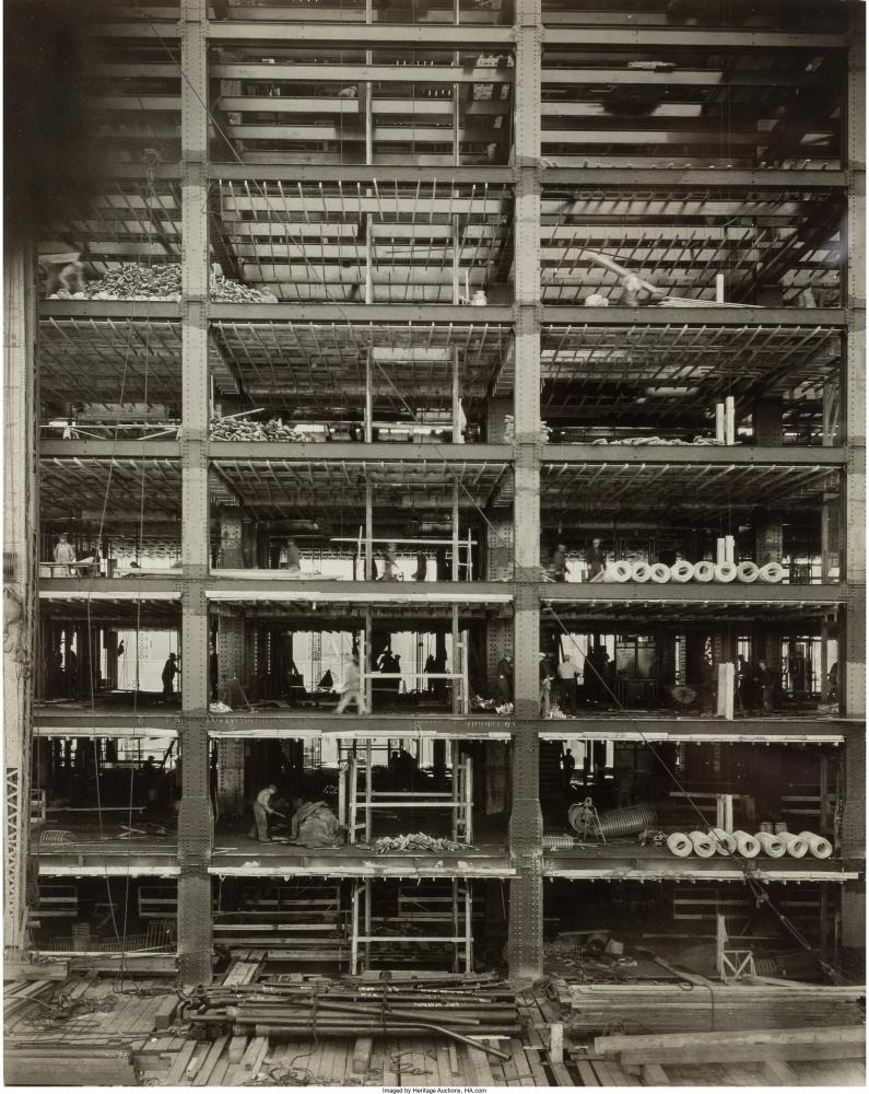 Строительство Рокфеллер центра, 1932.