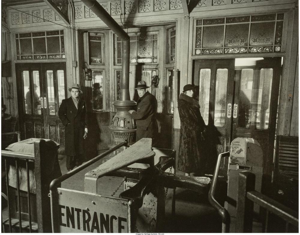 Интерьер станции линий Шестой и Девятой авеню, 1936 год.