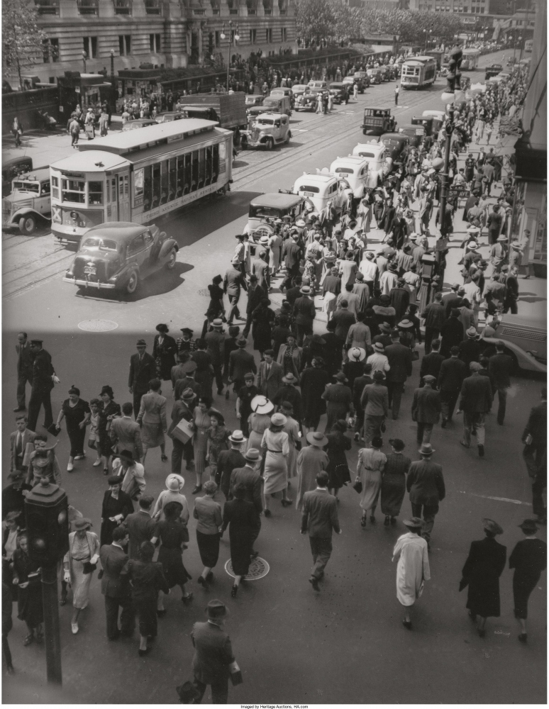 Пятая авеню и 42-я улица, 13 мая 1938г.