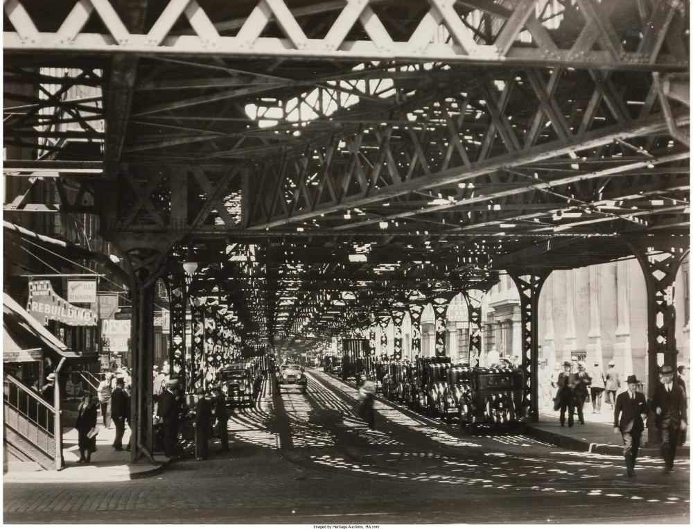 Под железнодорожным мостом на Бэттери, 1936.