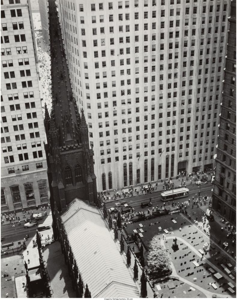 Церковь Троицы и Уолл-Стрит, 1934 г.