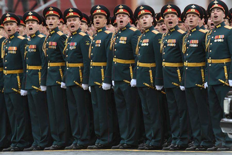 Военный парад в честь Дня Победы на Красной площади 9 мая 2017 года.