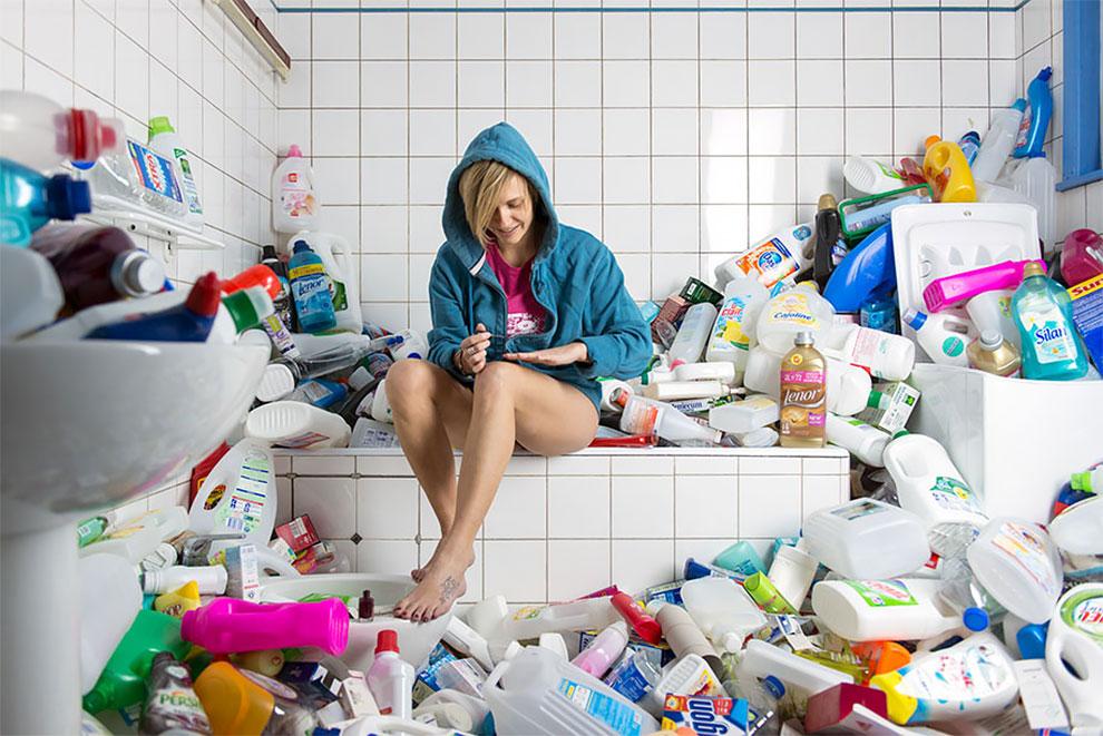 Фотограф четыре года не выбрасывал мусор чтобы сделать серию фотографий