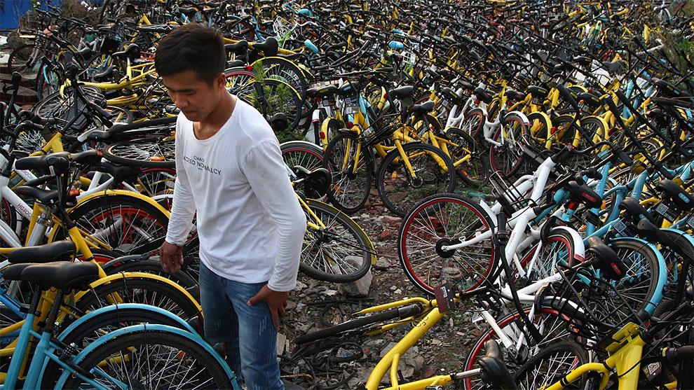 Невероятный прокат велосипедов в Китае