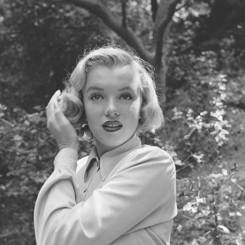 Фотосессия Мэрилин Монро в лесу, 1950 г.