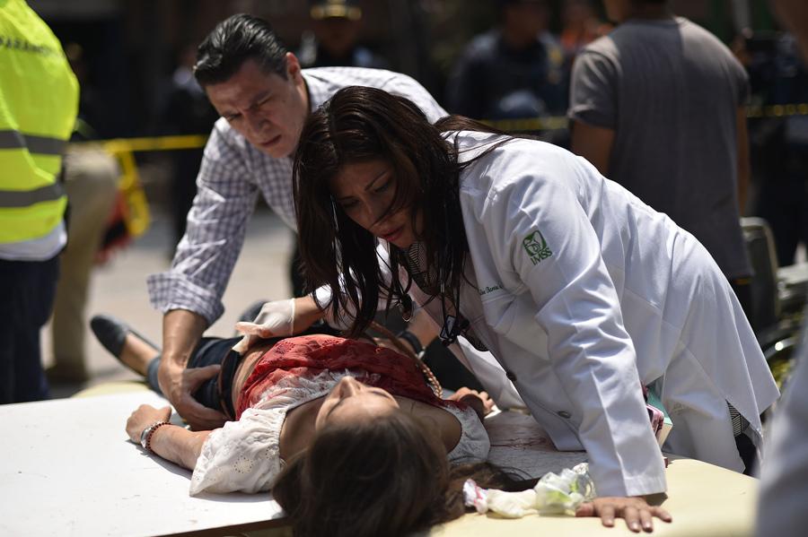 Фотографии землетрясения в Мексике