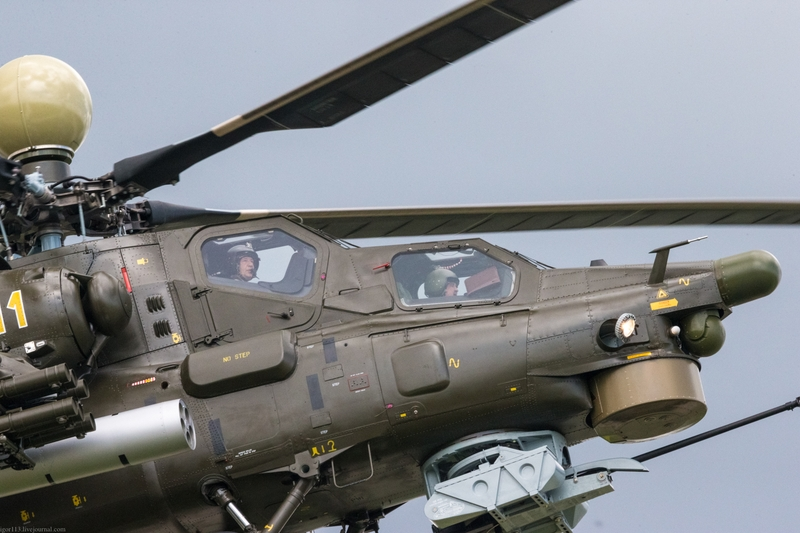 Российский вертолёт Ми-28УБ: демонстрация полета