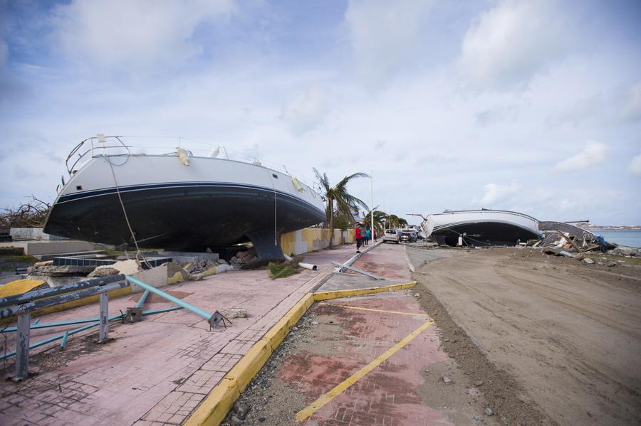 Последствия урагана Ирма в Сен-Мартен