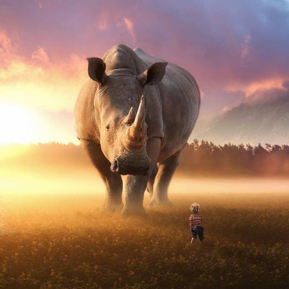 Как бы выглядел наш мир, если бы животные стали больше людей