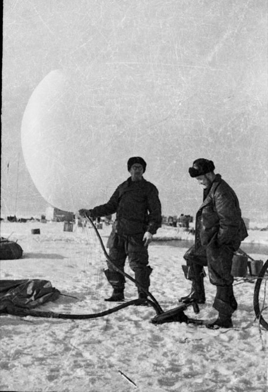 Советские исследователи на Северном полюсе