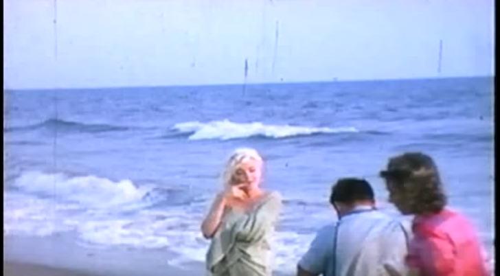 Последние известные кадры Мэрилин Монро незадолго до ее смерти 4 августа 1962 года