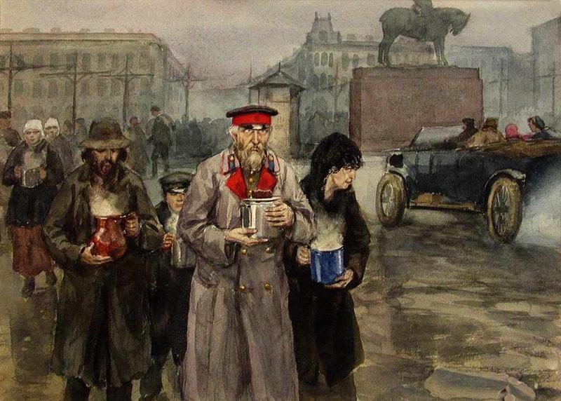 Голод на улицах Петрограда