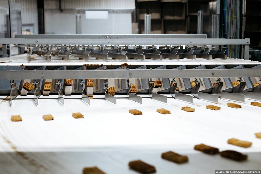 Как делают венские вафли на заводе