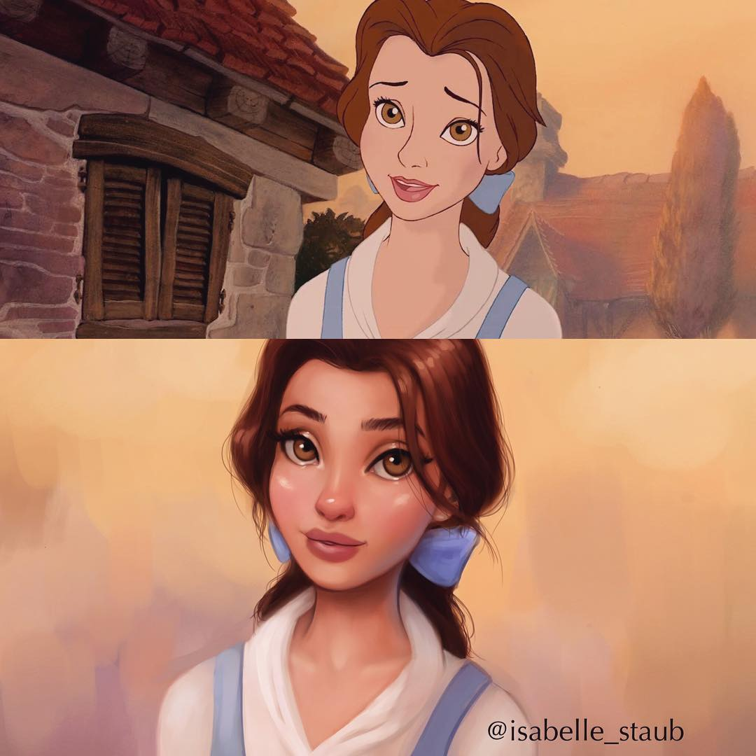 Иллюстратор перерисовывает героев мультфильмов в своём стиле, и они выглядят лучше оригинала