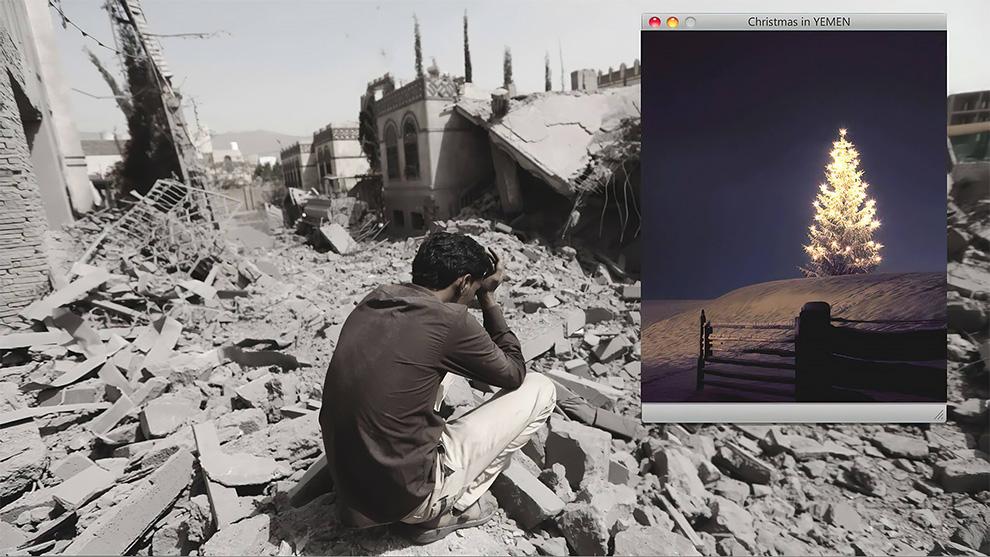 «Рождество в Йемене» - уличный художник напоминает нам, как живут дети в настоящем аду