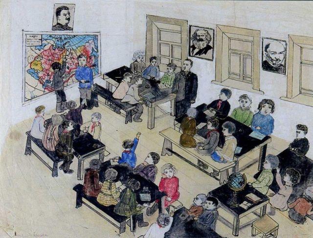 """""""В классе"""". Аня, 14 лет, 1934"""