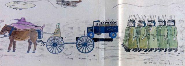 Мощь Красной армии. Василий Трифонов. 10 лет. Московская область, 1934 год.