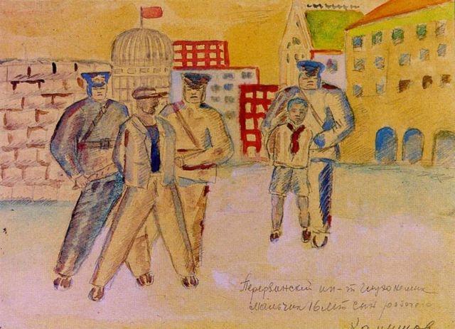 Классовая борьба. Н. Камышов, 16 лет, Московская область, 1934 год.